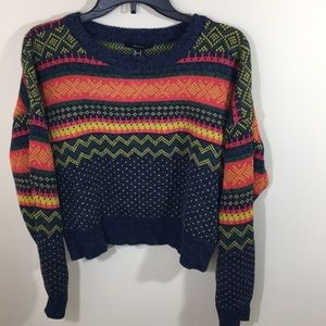 Forever 21 Multicolored Sweater Sz M